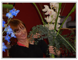 Staff member  at  Penny Lane Flowers - Liverpool Shop Interior